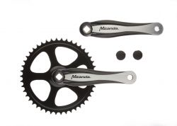"Miranda crankset Beta 1+, 3/32"" 46T, black"