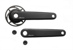 Miranda crankset Delta, crank 170mm Bosch2 e-bike with rock ring ISIS, black
