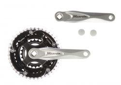 Miranda crankstel Alfa 3, 5mm, crank 170mm 24/34/42T, zilver
