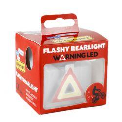 NietVerkeerd achterlicht Flashy Warning, Hi-Tech COB-LED USB oplaadbaar, zwart