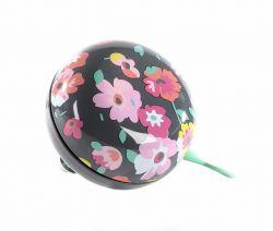 NietVerkeerd bel ding-dong, 80mm halfdesign bloemperk, zwart