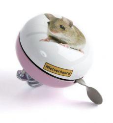 NietVerkeerd bel ding-dong, 80mm halfdesign muis, roze