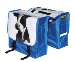 NietVerkeerd tas dubbel, koeienkop, blauw