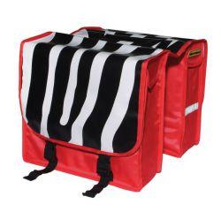 NietVerkeerd tas dubbel, zebrastrepen, rood