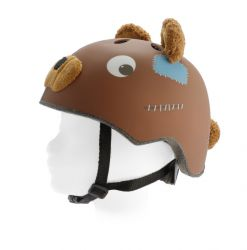 PexKids children's helmet Race, bear, brown