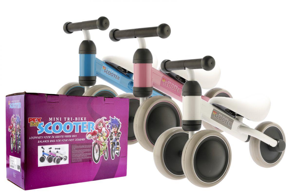 pexkids loopfiets tribike 6 roze
