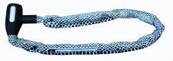 Pythonslot kettingslot slangenprint 6x900mm, zwart|wit