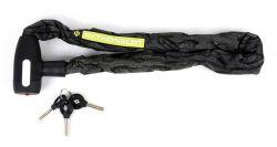 Pythonslot kettingslot slangenprint 8x900mm, zwart