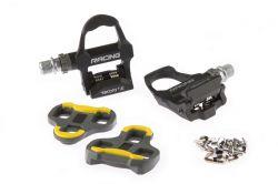 TecoraE pedaalset KEO Clipless (Look Keo compatibel), Race 9,5x8,5x3,5cm, zwart