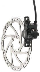 Tektro brake disc GeminiSL HD-M520/M521, MTB hydr. caliper and 110 cm pipe front left, black