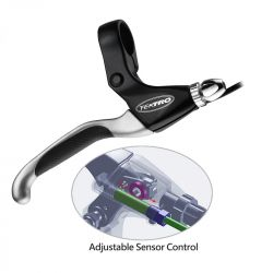 Tektro brake lever EL550FR-RS, E-bike with sensor 4-finger, black|silver