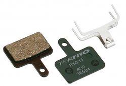 Tektro brake pad E10.11, organic hydraulic / mechanical, green