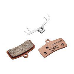 Tektro brake pad Q11YS, sintered 4 piston, brown|matt