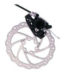 Tektro brake set Aquila MD-M500, MTB mechanical, claw, rotor, adapter (IS) F ø180mm, black
