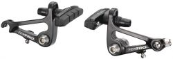 Tektro brake set CR720 canti, Cyclo; with brake pad 877.12 front / rear, black
