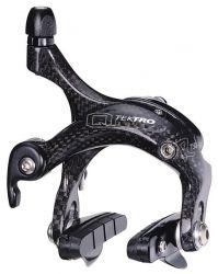 Tektro cantilever brake R750 carbon, Race; met remblok P423.11 v/a, zwart