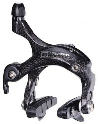Tektro cantilever brake R750 carbon, Race; with brake pad P423.11 front / rear, black