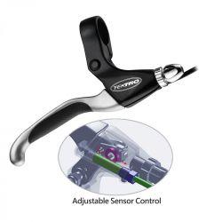 Tektro remgreep EL550FR-RS, E-Bike met sensor 4-vinger, zwart|zilver