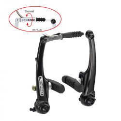 Tektro v-brake 857AL, Cyclo; with brake pad 836.12 v/a; 110mm, black