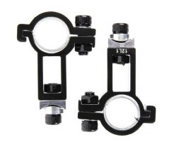 TranzX bevestigingset JD-801, JD-802, L+R ø22.2~25.4mm, zwart