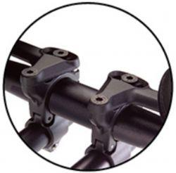 TranzX bevestigingset voor tri-bar JD-808, ø22.2~31.8mm excl.armsteunen L+R, zwart