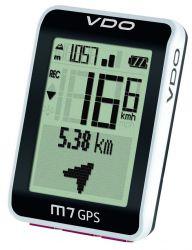 VDO computer M7 GPS, digitaal, draadloos, GPS en 12++ functies, wit