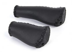 Velo grips VLG-649D2, leather with ergo grip, black