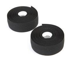 Velo handlebar tape VLG-001, gel with cork print, black