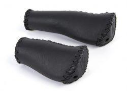 Velo handvatten VLG-649D2, leer met ergo grip 135/92mm, zwart