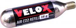 Velox CO2 patroon, met draad 16gr|3stuks, zwart