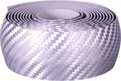 Velox handlebar tape Teckno, carbon-look, silver