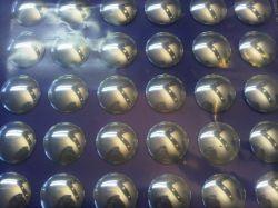 Velox stuurdoppen, 15 paar, zilver