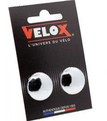 Velox stuurdoppen, 2 stuks, zilver