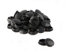 Vinty afdekdop voor spieloos crankstel, push-in ø25mm, zwart