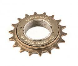 Vinty freewheel Full-Ball, single 16-tands, goud