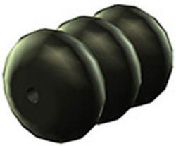 Westphal cable spacer no.854, round, black
