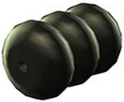 Westphal kabelafstandhouder no.854, rond ø1.2mm, zwart