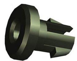 Westphal kabelnippel no.803/50, z/gat ø5mm, zwart